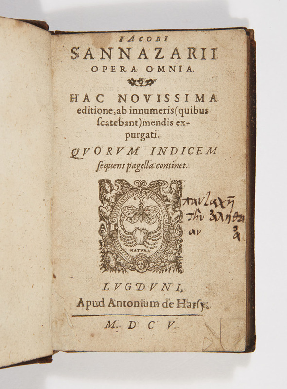 """Title page of """"Opera Omnia"""""""