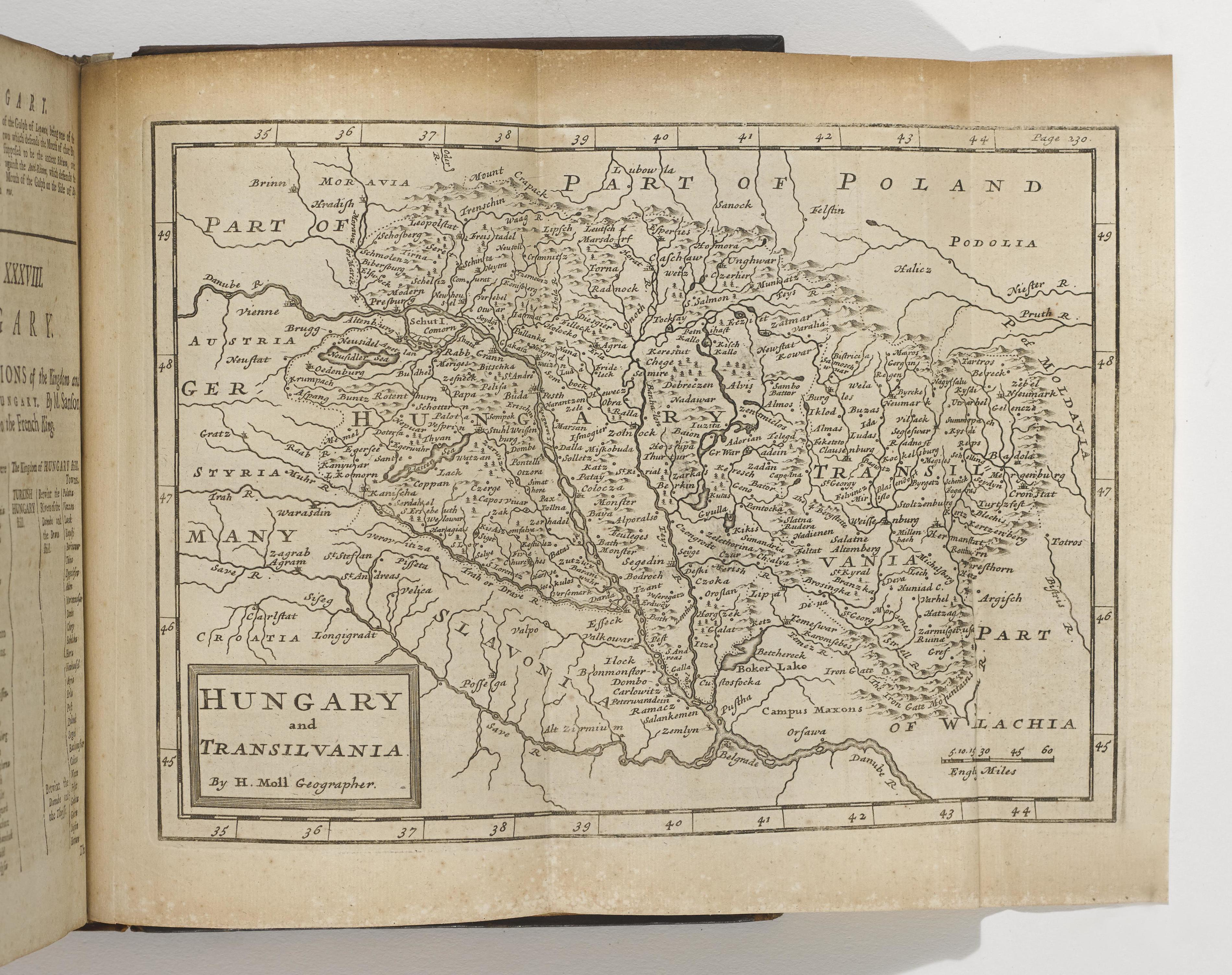 Map of Hungary and Transylvania