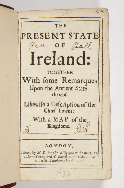 "Title page of ""The Present state of Ireland"""