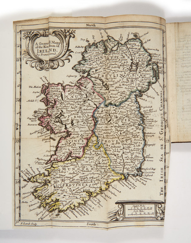 Fold-out map of Ireland, highlighting the different provinces