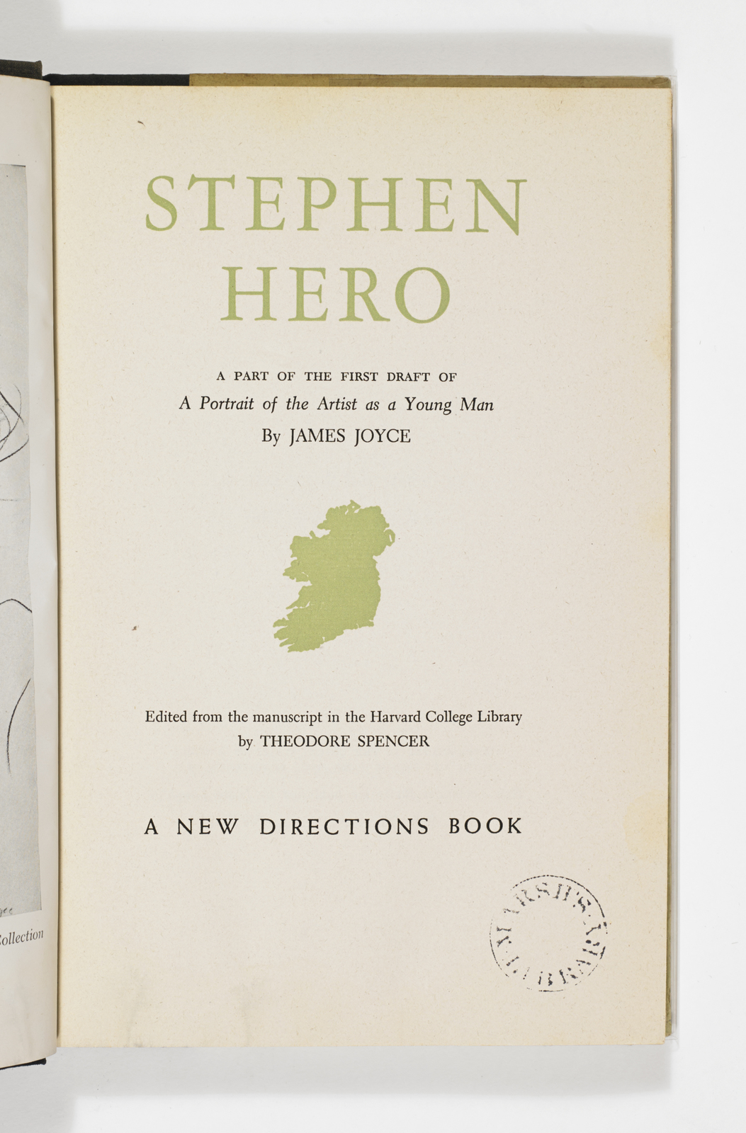 Title Page of Stephen Hero
