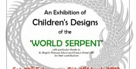 No, it's not a remake of 'Snakes on Planes'… it's an exhibition of children's drawings of the World Serpent