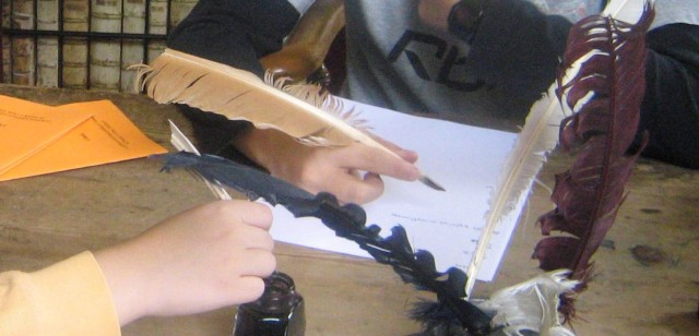 Educational activities: writing with a quill!