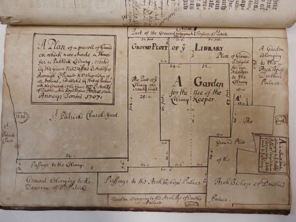Plan of library 1708