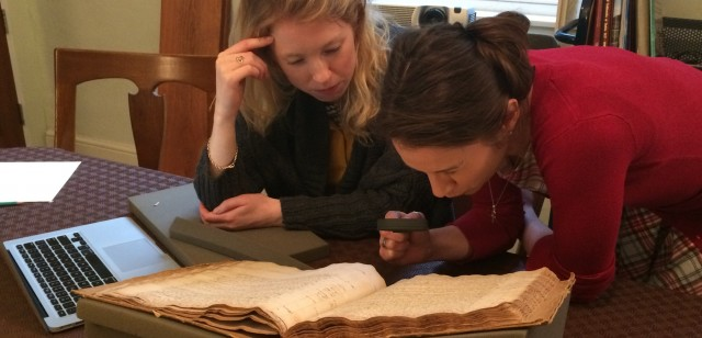 Two excellent research associates have been working on the diary of our first Keeper, Élie Bouhéreau.