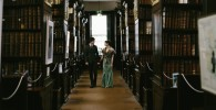 Gorgeous photo of Colm and Aisling who got married in Marsh's Library October 2015.