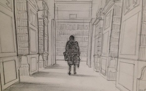 Artists were invited to come and draw the interior of the library as part of the Bealtaine Festival 2016