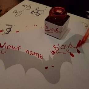 blood writing