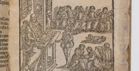 This charming image of a school classroom dates from 1593. It appears on the title-page of a unique surviving copy of a catechism which probably published in thousands of copies. This...