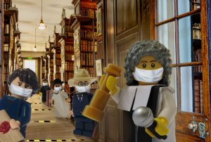 socially distanced minifigures in Second Gallery